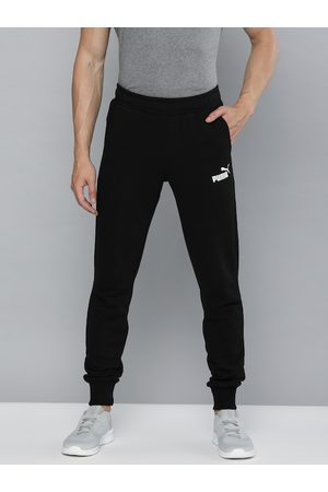 PUMA Men Black Solid ESS Slim Pants TR Joggers