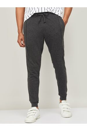 Lifestyle Men Grey Solid Slim-Fit Joggers