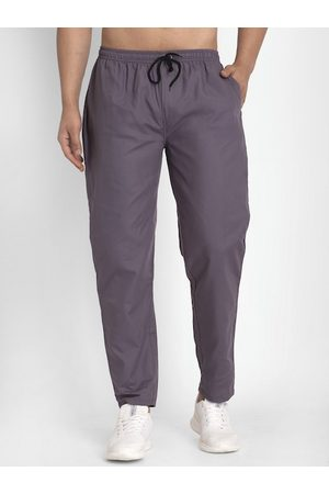 JAINISH Men Grey Solid Slim Fit Track Pants