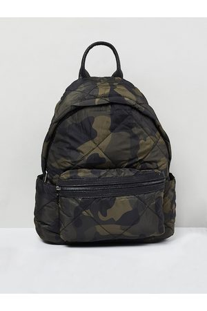 Max Collection Men Green & Brown Camouflage Printed Backpack