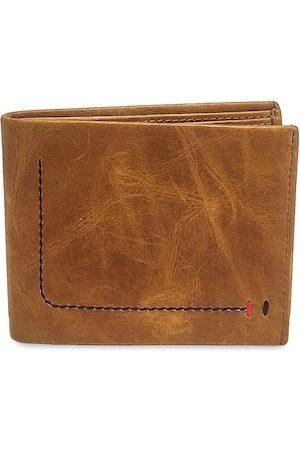 WENZEST Men Tan Solid Two Fold Wallet Tan2TankaArc_01