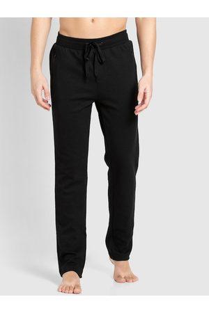 Jockey Men Black Solid Slim-Fit Track Pants