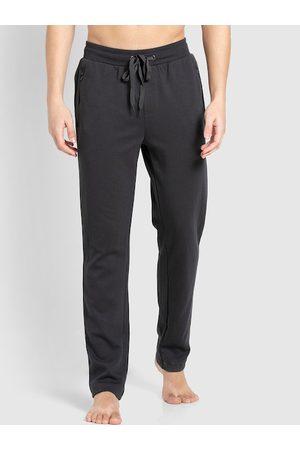 Jockey Men Grey Solid Slim-Fit Track Pants
