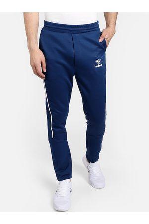 Hummel Men Blue Solid Slim Fit Track Pants