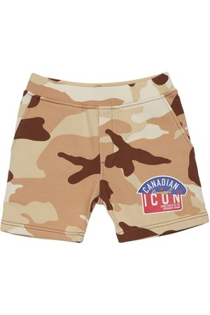 Dsquared2 Boys Shorts - Camouflage Print Cotton Sweat Shorts