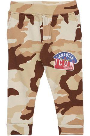 Dsquared2 Boys Trousers - Camouflage Print Cotton Sweatpants