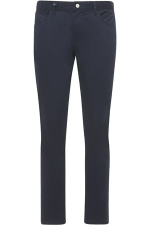 Armani Men Stretch Trousers - 5 Pockets Stretch Cotton Pants