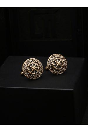 COSA NOSTRAA Gold-Toned Round Cufflinks