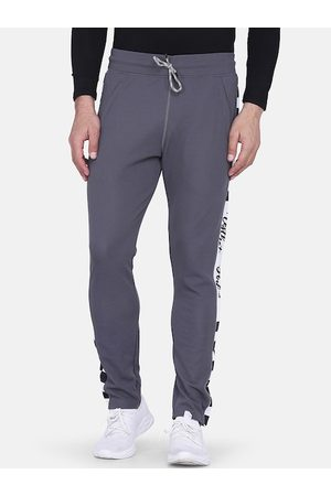 Aesthetic Bodies Men Grey Solid Slim-Fit Training Or Gym Track Pants