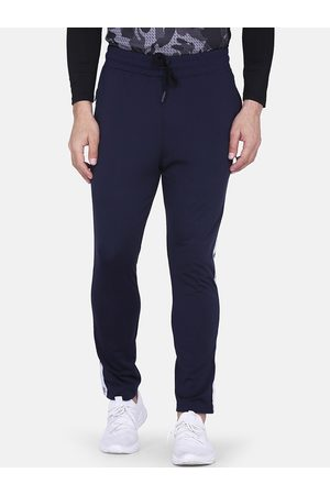 Aesthetic Bodies Men Navy Blue Solid Slim-Fit Track Pants