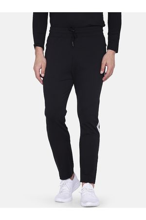 Aesthetic Bodies Men Black Solid Slim-Fit Track Pants