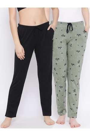 Kanvin Women Pack Of 2 Pure Cotton Lounge Pants