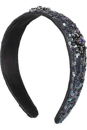 Anekaant Women Black Faux Silk Sequinned Hairband
