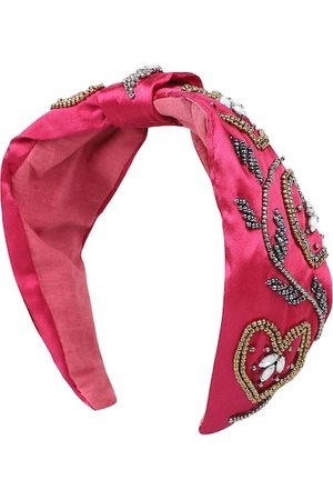 Anekaant Women Magenta Embellished Hairband