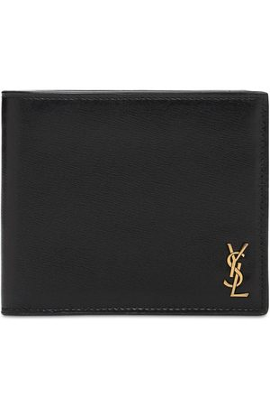 Saint Laurent Tiny Monogram Leather Wallet
