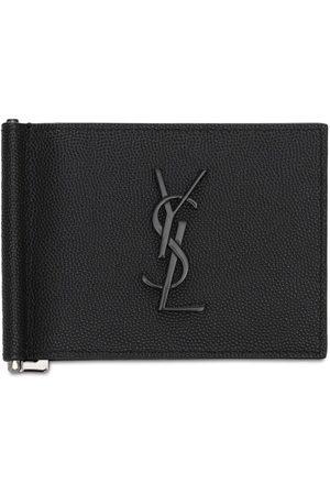 Saint Laurent Men Wallets - Monogram Leather Wallet W/ Bill Clip