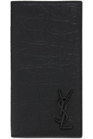 Saint Laurent Men Wallets - Monogram Embossed Continental Wallet