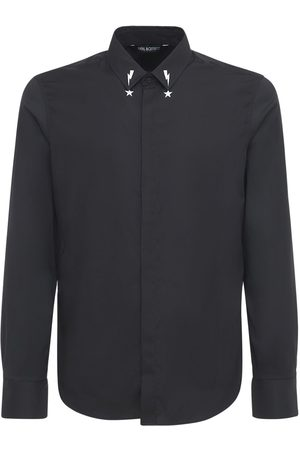 Neil Barrett Men Shirts - Starbolt Printed Collar Poplin Shirt