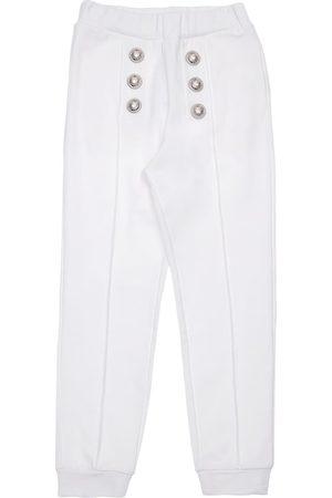 Balmain Girls Trousers - Cotton Sweatpants W/ Buttons