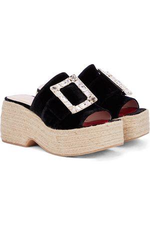 Roger Vivier Embellished platform espadrille sandals