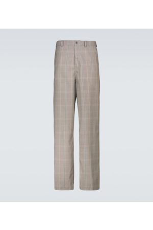 UNDERCOVER Men Wide Leg Trousers - Checked wide-leg pants