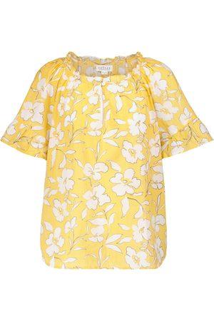 Velvet Idette floral cotton blouse