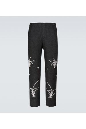 BODE Men Formal Trousers - Merino wool Garden sweatpants