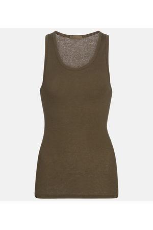 WARDROBE.NYC Women Tank Tops - Ribbed-knit cotton tank top