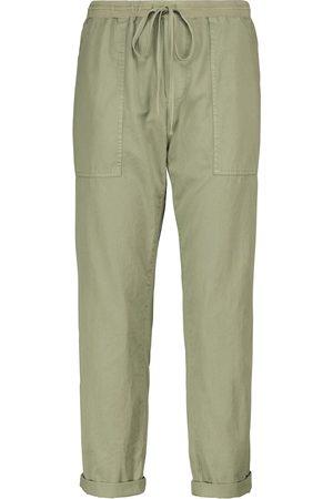 Velvet Women Cargo Trousers - Misty cotton twill cargo pants