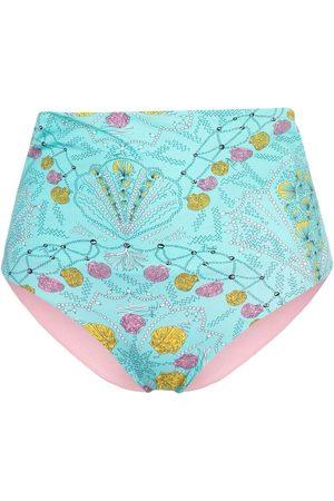 Emilio Pucci Women Bikinis - Shell-print bikini bottoms
