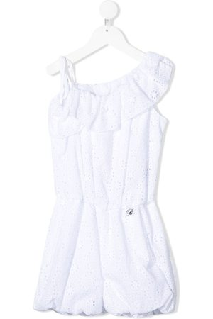 MISS BLUMARINE Girls Playsuits - Cotton broderie anglaise playsuit