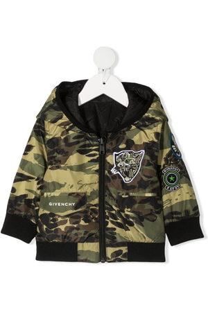 Givenchy Jackets - Camouflage-print hooded jacket