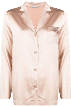 12 STOREEZ Camp collar silk-blend shirt