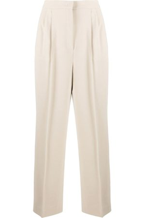 12 STOREEZ High-waisted press crease trousers