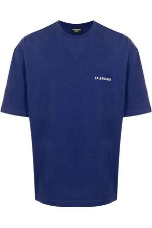 Balenciaga Men Short Sleeve - Logo-print cotton T-shirt