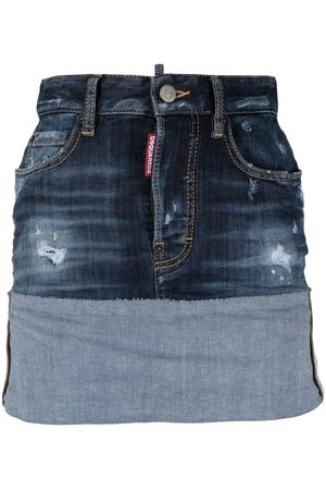 Dsquared2 Turn up denim skirt