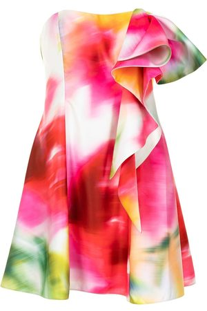 Marchesa Notte Abstract print cocktail dress