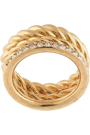 MULBERRY Thin crystal-embellished ring