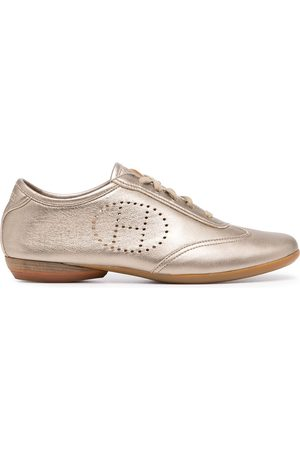 Hermès Women Sneakers - Pre-owned perforated logo lace-up sneakers