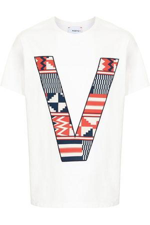 Ports V Short Sleeve - V logo cotton T-shirt