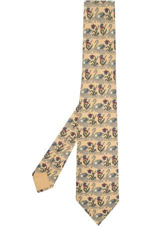 Hermès 2000s pre-owned swan print tie