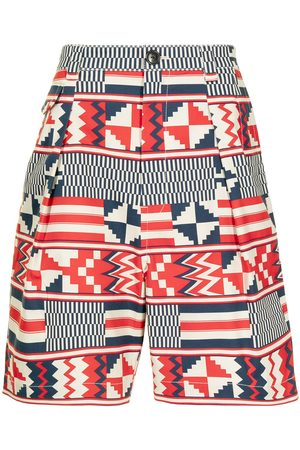 Ports V Geometric-print shorts