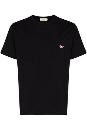Maison Kitsuné Men Short Sleeve - Tricolour Fox patch T-shirt