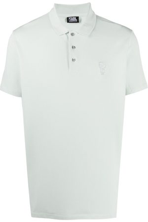 Karl Lagerfeld Embroidered-logo cotton polo shirt