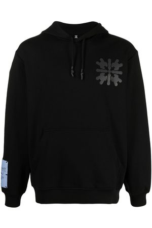 McQ Abstract-print cotton hoodie