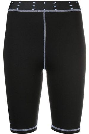 McQ Women Shorts - Logo-patch cycling shorts