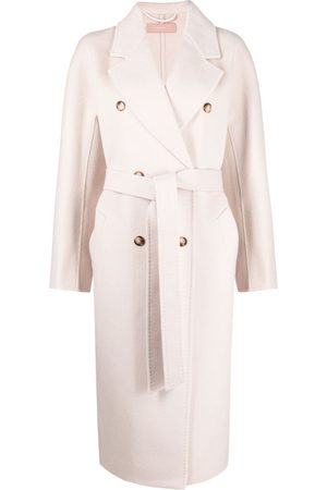 12 STOREEZ Double-breasted belted coat