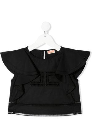 Elisabetta Franchi La Mia Bambina Girls Crop Tops - Ruffled cotton-blend crop-top