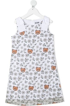 Moschino Teddy bear and floral-print dress