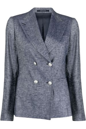 TAGLIATORE Women Blazers - Peak-lapels double-breasted blazer